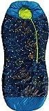 AceCamp Kid's Glow-In-The-Dark leuchtender Kinderschlafsack, 3-Jahreszeiten, Mumienschlafsack, bis 142 cm Körpergröße, bis -1°C, Blau, 3978
