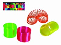 Smiley Gifts - Keeps Them Entertained For Hours - Neon Slinky / Toy Spring - Great Stocking Filler, Christmas Present Idea For Boys & Girls Children Age 3+ - One Supplied