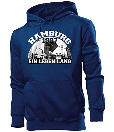 Hamburg 1887 6145 Fussball Kapuzen Pullover Pulli Fan Artikel Sweatshirt Geburtstags Geschenk Ultras Männer Herren Hoodie (Fussball Fan-geschenke)