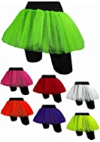 Tutu Neon Tutu Skirt Blue Pink Yellow ++ Neon 80s Night Fancy Dress TUTU UK 8-16