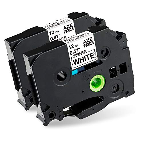 Markurlife kompatibler Brother P-Touch TZe-231 TZ-231 12 mm (0,47 Zoll) Schwarz auf Weiß 2er Pack
