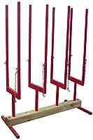 Forest Master Multi-Wood Stand Sawhorse Bulkog Grip Holder Chainsaw Cutting - Red