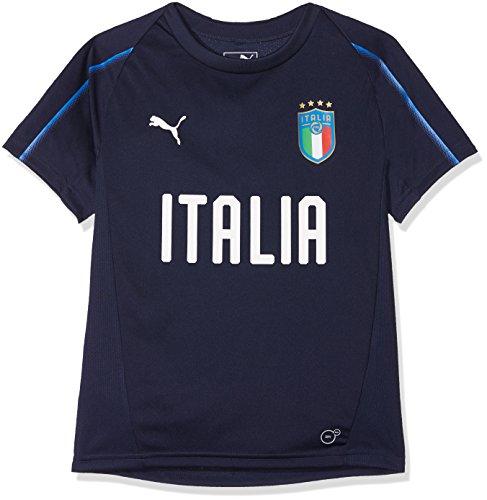 Puma FIGC Italia Training Jersey SS Jr Camiseta, Niños, Oscuro/Azul Power, 140