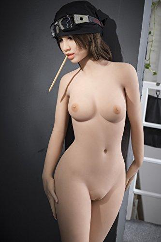 Sexpuppe für Erwachsene 155cm straffen Körper echt aussehende sexpuppe lebensechte Silikon Sexpuppe mit Metallskelett 3 Öffnungen Anus Vagina Oral Sex Sexspielzeug