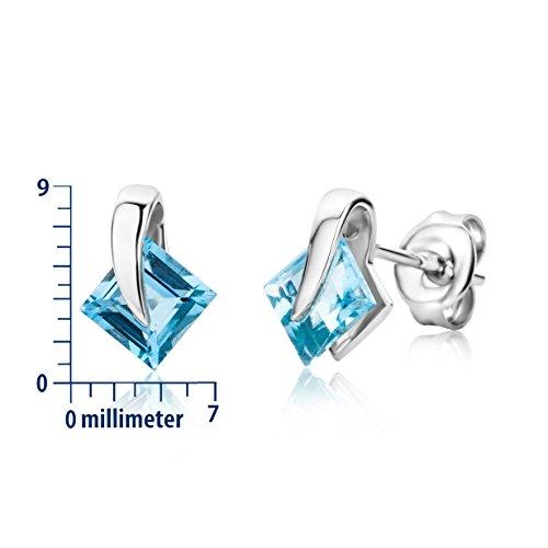 Miore - Collier Femme  375/1000 (9 carats) Bleu