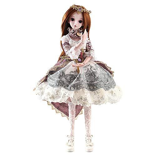 Wawer BJD Doll SD Doll 60cm/24inch Blanche Prinzessin Braut Puppen für Mädchen Geschenk- und Puppenkollektion (Smart Doll)