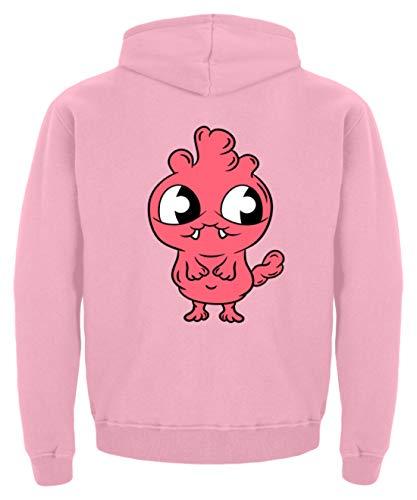 s Monster für Babys und Kinder süßes Ungeheuer Babygewand Strampler Taufe Geschenkidee - Kinder Hoodie -7/8 (122/128)-Baby Pink ()