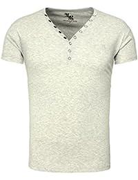 Young & Rich Homme T-shirt CORUNA Basic Regardez camaïeu avec Broderie Sommershirt