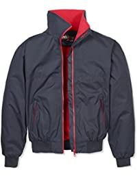 Musto Short Snug Blouson Mens Jacket True Navy and Red