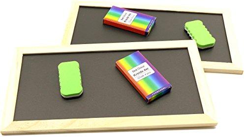 RMB® 2er Set Deko-Tafel mit dekorativen Echt-Holzrahmen Kreide und ()