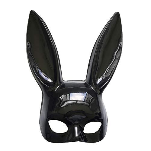 Homeit Halloween Cosplay Maskerade Kaninchen hase Maske mit Langen Ohren für Frauen mädchen Halloween Party kostüm Ostern Karneval, schwarz weiße Farbe