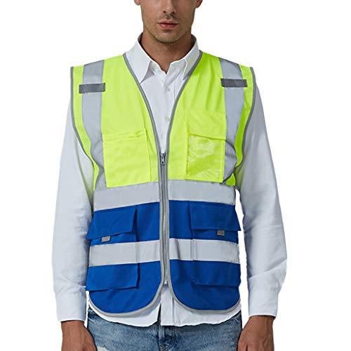 sunnymi  Herren Hosen, Road Work Warnschutz Pullover Langarm Kapuzenpullover Tops Bluse - Weben Blazer Jacke