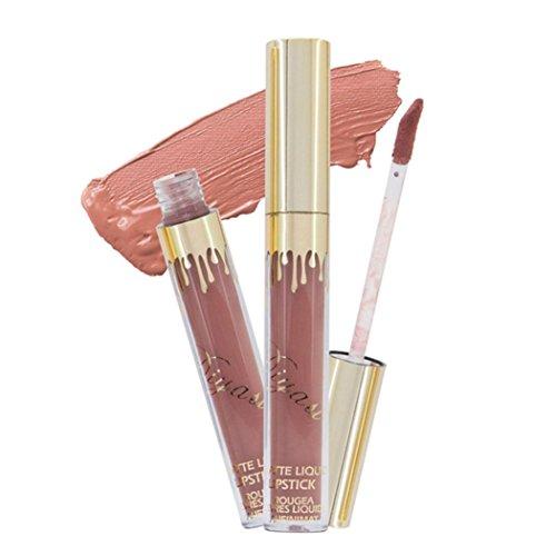 Fulltime 6 couleur Imperméable à l'eau longue durée de lèvre crayon à lèvres Matte Gloss maquillage lèvres (F)