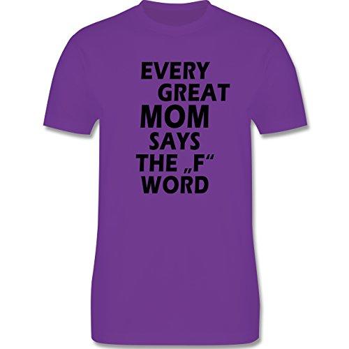 Statement Shirts - Fuck Word - Herren Premium T-Shirt Lila