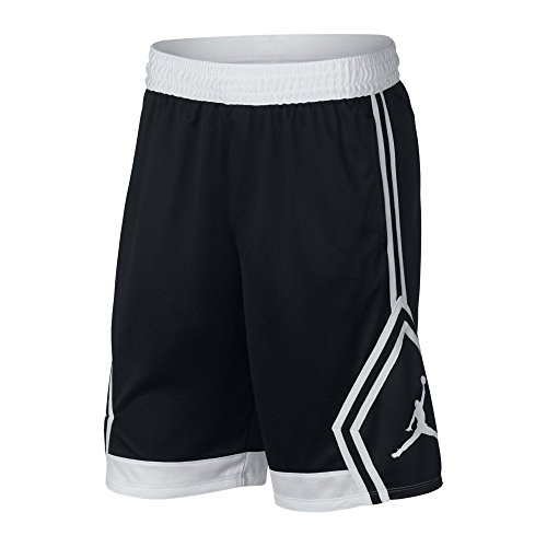 Nike Rise Diamond, Short Herren XL Nero/Bianco/Nero/Bianco