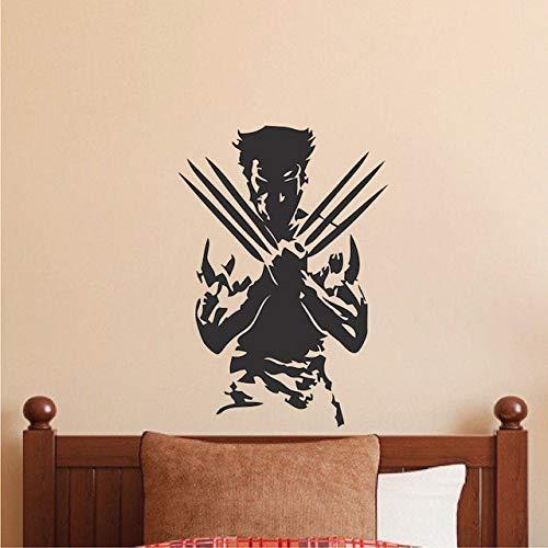 YSQARS Wolverine X Männer Wandtattoos Wohnkultur Wohnzimmer Kreative Film Charaktere Wandaufkleber Superheld Spezielle Wand Mural79X56Cm