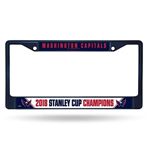 Rico Washington Hauptstädte 2018Stanley Cup Champions Midnight Blau Chrom Nummernschild Rahmen Washington Nationals-laser