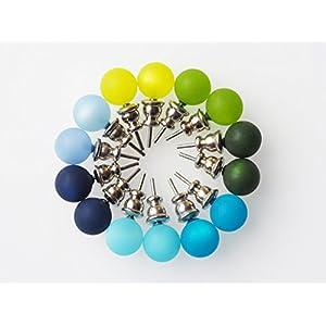 Polarisohrstecker blau türkis grün Ohrstecker Perle
