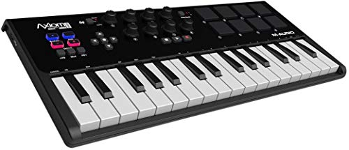 M-Audio Axiom Air Mini 32 - Clavier Maître MIDI 32 Touches Sensibles à la Vélocité et 8 Pads Sensibles avec ProTools | First, Eleven Lite, Ableton Live Lite & Xpand!2 d'AIR Music Tech