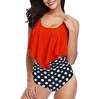 Luckycat Bikini Mujer 2019 Verano Bikini Push up Mujer Bikini Cuello Halter Ropa De Baño Mujer Trajes de Baño Mujer Bikini Brasileño con Relleno Sexy Bikini Sol Playa de baño Bikini Tanga