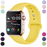 Hamile Compatible avec Apple Watch Bracelet 38mm 40mm, Sport en Silicone Souple...