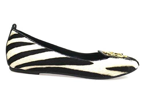 scarpe donna BRACCIALINI 37 ballerine nero / bianco cavallino AP989