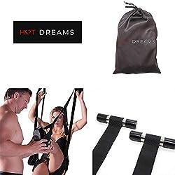 HOT DREAMS® Liebesschaukel Tür Mit Sitz, Extrem Robuste Sexschaukel Für Paare, Türschaukel Belastbar Bis 120 Kg (inkl. E-Book)