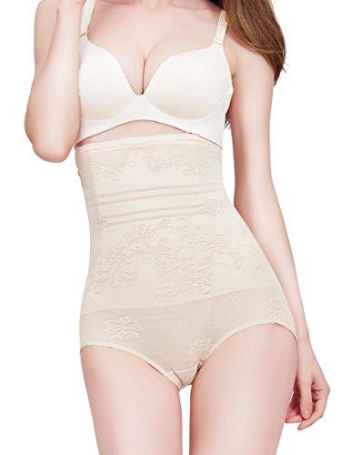 Amhillras Shapewear Vita Alta Intimo Modellante Donna Guaine Contenitive Cosce Intimo Dimagrante Beige
