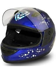Full Face Helmet Blue Kinderhelm Integralhelm Fullface Motorradhelm