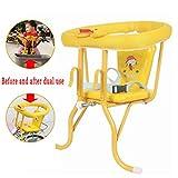 YXZN Baby Fahrradsitz Kinder Hinten Vorne HäNgende Heck Dual Use Quick Release Sitze Mit Sicherheitsgurt