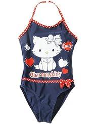 Maillot de bain 1 pièce enfant fille 'cutie' Charmmy kitty Marine/rouge 4ans