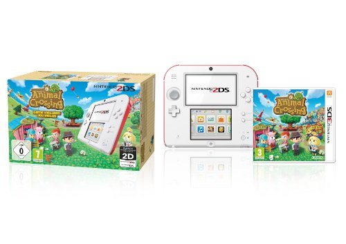Nintendo 2DS (weiß+rot) inklusive Animal Crossing (Limited Edition) 4 Gb Sdhc-bundle