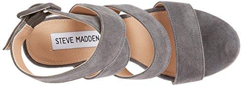 STEVEN by Steve Madden Davison Sandal, Sandales  Bout ouvert femme Gris (Gris)