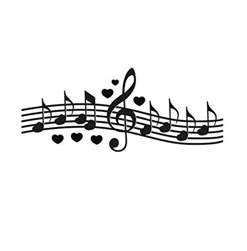 Preisvergleich Produktbild Zhyp Wall Sticker Dekorative Musiknoten Wanddekoration Ein Liebeslied Schlafzimmer Wandaufkleber Abziehbilder 145 * 58 Cm