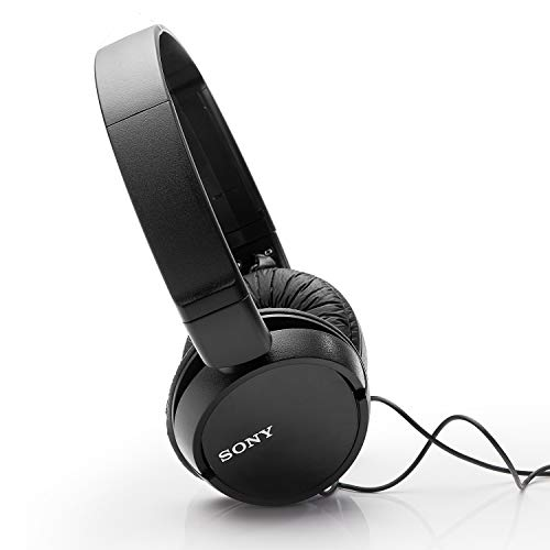 Sony MDR-ZX110 On-Ear Stereo Headphones (Black) Image 4