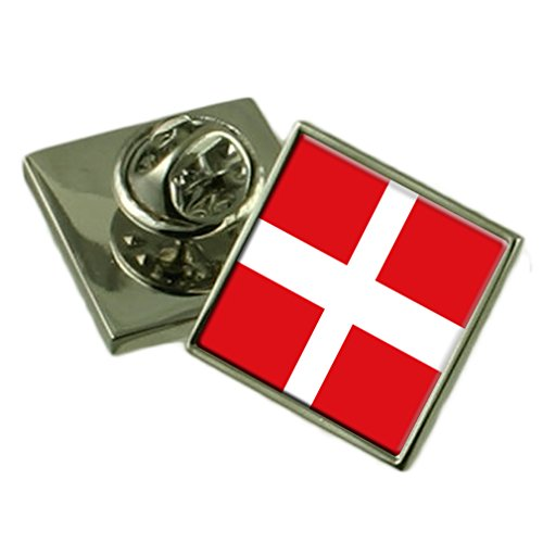 Souveräne Malteserorden Flagge Anstecknadel Abzeichen Massiv Silber 925