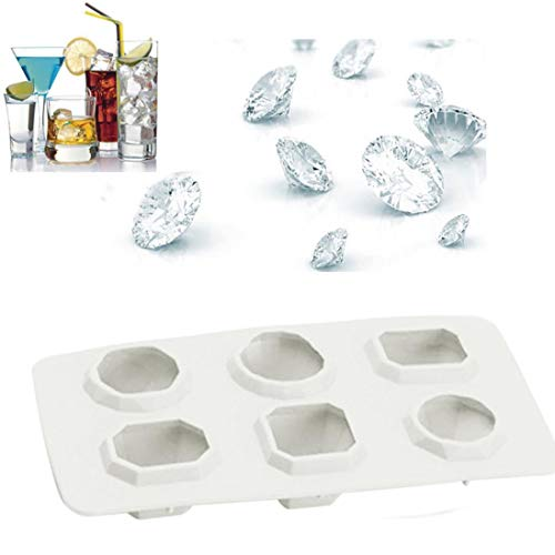 TAOtTAO ICS Mold Diamant-Edelstein-kühler Eis-Würfel-Schokoladen-Seifen-Behälter-Form-Silikon-Fondant-Formen