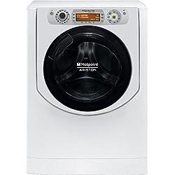 Hotpoint AQD1171D Charge avant Autonome Argent, Blanc A - Machines à laver avec sèche linge (Charge avant, Autonome, Argent, Blanc, Droite, Rotatif, Tactil, LCD)
