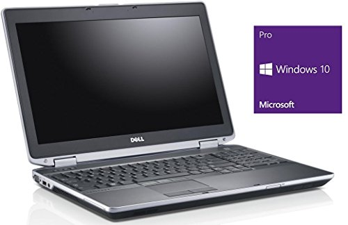 Dell Latitude E6530 Notebook | 15.6 Zoll | Intel Core i5-3320M @ 2,6 GHz | 8GB DDR3 RAM | 320GB HDD | DVD-Brenner | Windows 10 Pro vorinstalliert (Zertifiziert und Generalüberholt)
