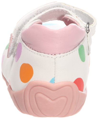 Agatha Ruiz de la Prada Aropi, Ballerines bébé fille Blanc (A-Blanco estampado puntos)