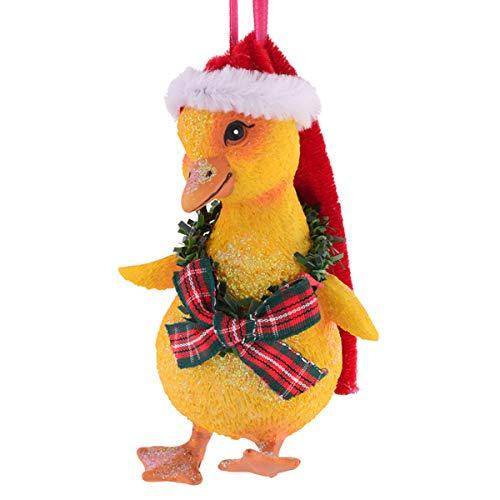 (Gift Company - Hänger - Christbaumschmuck, Baumschmuck - Entenküken, Küken mit Weihnachtsmütze - (LxHxT): 6,1 x 10,8 x 5,7 cm)