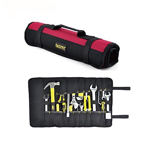 FASITE Rolltasche mit 35 Fächern Taschen Werkzeugtasche Werkzeugrolltasche Werkzeugrolle unbestückt für Wartungstechniker Tragetaschen -
