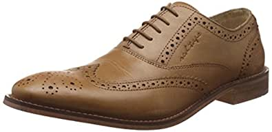 Red Tape Men's Brogue Tan Leather Formal Shoes - 7 UK