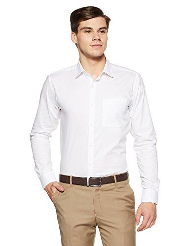 Raymond Men's Plain Slim Fit Formal Shirt (RMSZ07914-W0!_White!_40)