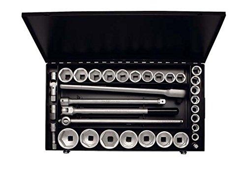 Steckschlüssel-Satz 3/4″, zwölfkant, 34-teilig 18-60 mm, ELORA-770-S24/1 MZ