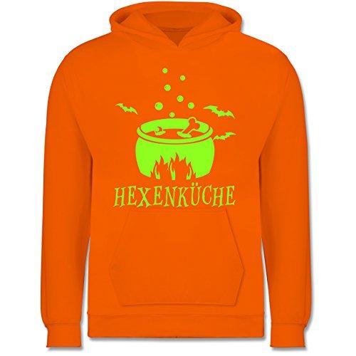Kleine Köche & Bäcker - Hexenküche - 7-8 Jahre (128) - Orange - JH001K - Kinder Hoodie