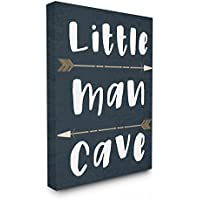 "Stupell Industries Little Man Cave Arrows Oversized Stretched Canvas Wall Art, Proudly Made in USA, Multicolour, 24"" x 30"" preiswert"