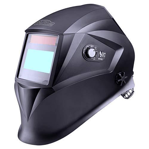 Schweißhelm, Tacklife PAH04D Automatik Schweißhelm mit 4 Sensoren, Optische Klasse: 1/1/1/1, Solar Schweißmaske (Variable Abdunklung 4/4-8/9-13), Inkl.6 austauschbare Objektive -