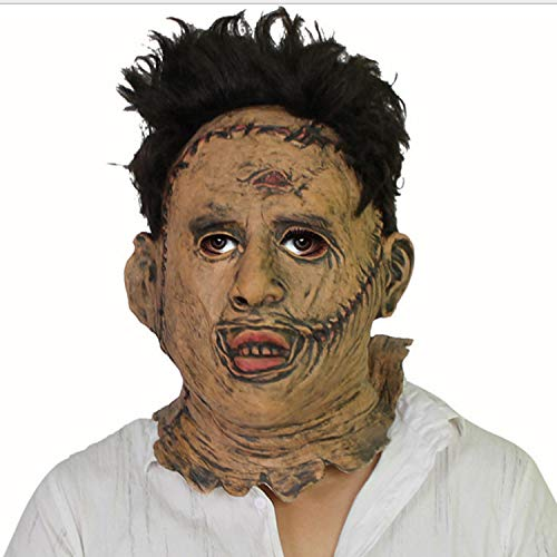 Halloween Horror Maske Filmrequisiten Latex Bar Dance Maske Erwachsene Größe,Brown-OneSize