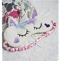 Sunei.f - Máscara de Dormir para niños y Adultos, diseño de Unicornio de Dibujos Animados, D, D